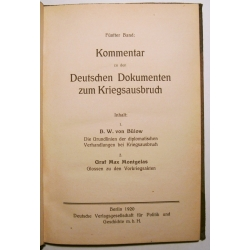 Auswärtiges Amt: Deutsche Dokumente zum Kriegsausbruch