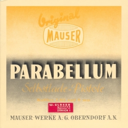 Parabellum Selbstladepistole - Anleitung 1936