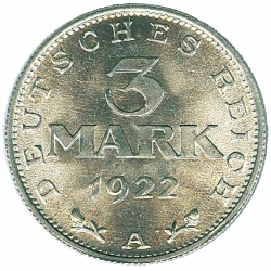 3 Mark 1922 A Verfassungstag