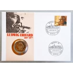 Numisbrief - Deutschland - Ludwig Erhard 1988