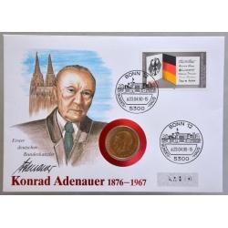 Numisbrief - Deutschland - Konrad Adenauer 1990