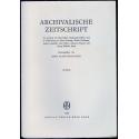 Archivalische Zeitschrift 62 (1966)