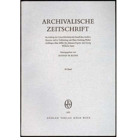 Archivalische Zeitschrift 69 (1973)