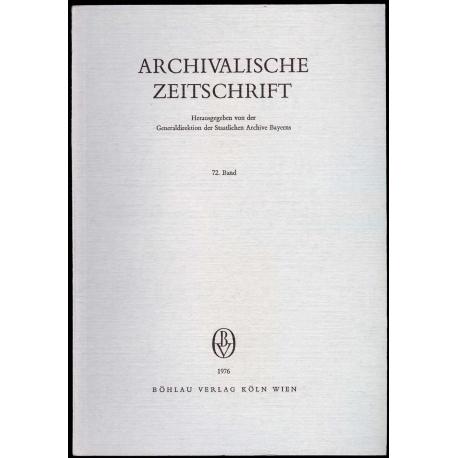 Archivalische Zeitschrift 72 (1976)