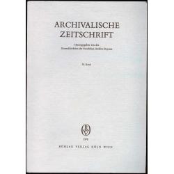 Archivalische Zeitschrift 74 (1978)
